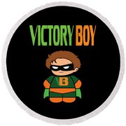 Inspirational Victorious Tee Design Victory Boy Round Beach Towel