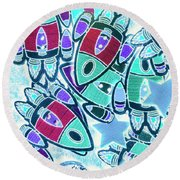 Intergalactic Abstract Round Beach Towel