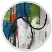 Intersection 40- Art By Linda Woods Round Beach Towel