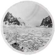 Into The Ice Round Beach Towel
