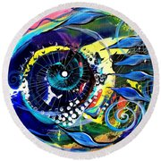Into The Pink Round Beach Towel