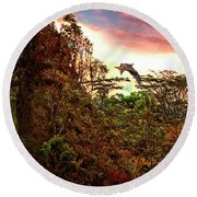 Round Beach Towel featuring the photograph Into The Unknown by Mike Braun