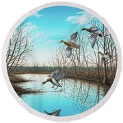 Intruder Round Beach Towel