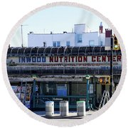 Round Beach Towel featuring the photograph Inwood Nutrition Center by Cole Thompson
