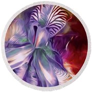 Iris Splendor 12 Round Beach Towel