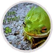 Irish Frog Round Beach Towel