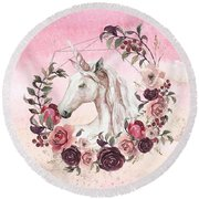 Round Beach Towel featuring the digital art Irresistible Force by Bee-Bee Deigner