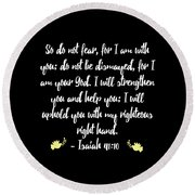 Isaiah 4110 Bible Round Beach Towel