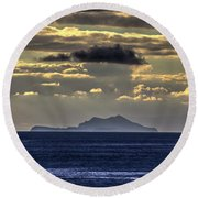 Island Cloud Round Beach Towel