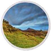 Isle Of Skye Landscape #i1 Round Beach Towel