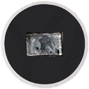 Isn't There Always An Elephant That No One Can See Round Beach Towel