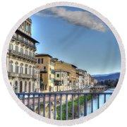 Italy River Round Beach Towel