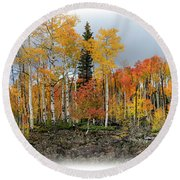 It's All About The Trees Round Beach Towel