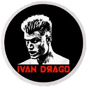 Ivan Drago Pop Art Round Beach Towel