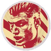 Ivan Drago Retro Propaganda Round Beach Towel