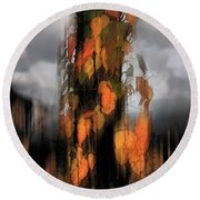 Round Beach Towel featuring the photograph Ivy Dreams by Wayne King