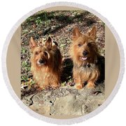 Jack And Lily 2 Round Beach Towel