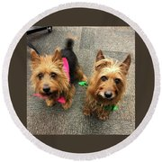 Jack And Lily Round Beach Towel