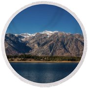 Jackson Lake Wyoming Round Beach Towel