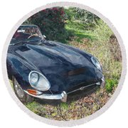 Jaguar E Type Round Beach Towel