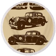 Jaguar Mark Iv Ss 2.5 Saloon Round Beach Towel