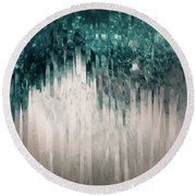 Round Beach Towel featuring the painting James 1 17. Father Of Lights  by Mark Lawrence