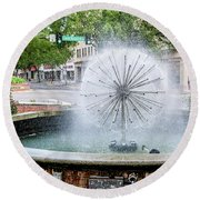 James Brown Blvd Fountain - Augusta Ga Round Beach Towel