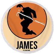 James Brown Round Beach Towel