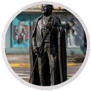 James Brown Statue - Augusta Ga 2 Round Beach Towel
