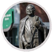 James Brown Statue - Augusta Ga Round Beach Towel