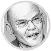 James Carville Round Beach Towel