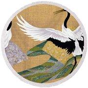 Japanese Modern Interior Art #112 Round Beach Towel