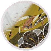 Japanese Modern Interior Art #89 Round Beach Towel