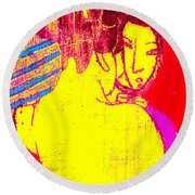 Japanese Pop Art Print 1 Round Beach Towel