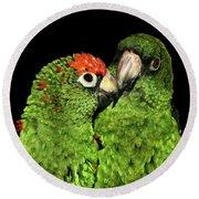 Jardine's Parrots Round Beach Towel