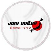 Jdm United Round Beach Towel