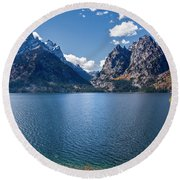 Round Beach Towel featuring the photograph Jenny Lake by Scott Read