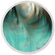 Round Beach Towel featuring the painting Jeremiah 33 3. Call To Me by Mark Lawrence
