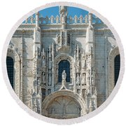Jeronimos Monastery, Portugal Round Beach Towel