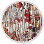 Round Beach Towel featuring the painting Jesus Christ, A Man Of Sorrows. Isaiah 53 3 by Mark Lawrence