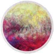 Round Beach Towel featuring the painting Jesus Christ, Rose Of Sharon. Song Of Solomon 2 1 by Mark Lawrence