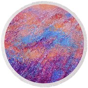 Round Beach Towel featuring the painting Jesus Christ, The Prince Of Peace- Isaiah 9 6 by Mark Lawrence