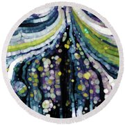 Round Beach Towel featuring the painting Jesus Christ, The Savior. Luke 2 11 by Mark Lawrence