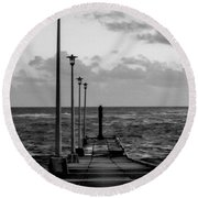 Round Beach Towel featuring the photograph Jetty by Stuart Manning