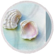 Jewel Of The Sea Round Beach Towel
