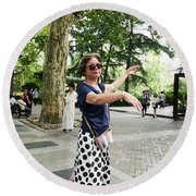 Jing An Park Round Beach Towel