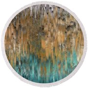 Round Beach Towel featuring the painting John 4 14. Never Thirst by Mark Lawrence