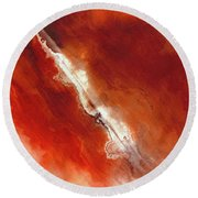 Round Beach Towel featuring the painting John 5 24. Passed From Death To Life by Mark Lawrence