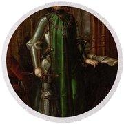 'john I Of Castile', 1848, Spanish School, Canvas, 222 Cm X 141 Cm, ... Round Beach Towel
