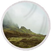 Journey To The Quiraing Round Beach Towel